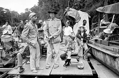 Photograph - L-r Actor Humphrey Bogart, Director by Eliot Elisofon