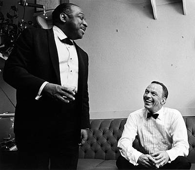Photograph - L-r Count Basie And Frank Sinatra by John Dominis