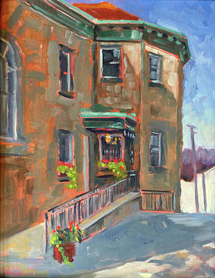 Painting - La Banque by Pamela Wilde