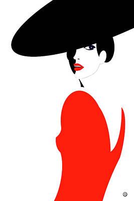 Wall Art - Digital Art - La Belle Dame 1 by Digital Painting