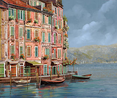 Target Threshold Watercolor - la calata a Portofino by Guido Borelli