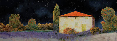 Painting Royalty Free Images - La Casa Tra Le Lavande Royalty-Free Image by Guido Borelli