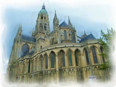 Digital Art - La Cathedrale De Bayeux by JLowPhotos
