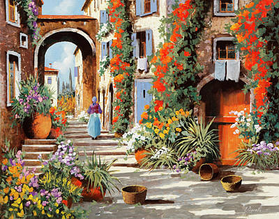 Automotive Paintings Royalty Free Images - La Donnina  Royalty-Free Image by Guido Borelli