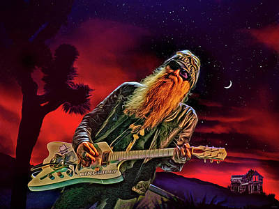 Mixed Media Royalty Free Images - La Grange ZZ Top Royalty-Free Image by Mal Bray
