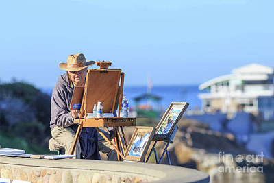 Photograph - La Jolla Painter by Edward Fielding