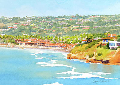Painting - La Jolla Shores From Coast Walk by Mary Helmreich