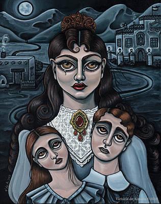 Painting - La Llorona by Victoria De Almeida