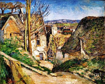 Painting - La Maison Du Pendu by Paul Cezanne