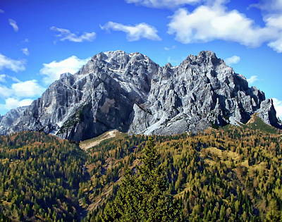 Photograph - La Moiazza Mountain Peak by Anthony Dezenzio
