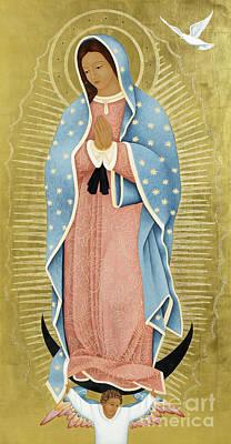 Virgin Guadalupe Wall Art - Painting - La Paloma Blanca by Jodi Simmons