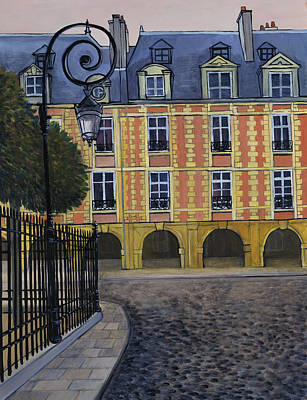 Painting - La Place Des Vosges By Isy Ochoa, Oil by Isy Ochoa