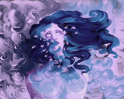 Digital Art - La Respiration S est Arretee by Sierra Matz