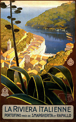 Photograph - La Riviera Italienne Poster by Graphicaartis