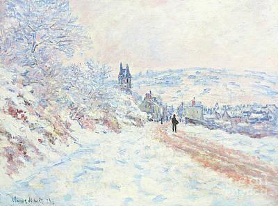 Painting - La Route De Vetheuil, Effet De Neige, 1879 by Claude Monet