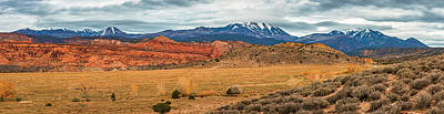 Photograph - La Sal Mountains by Andy Crawford