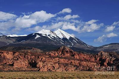 Photograph - La Sal Mountains by Marcia Lee Jones
