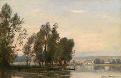 Painting - La Seine, Moret Sur Loing by Eugene Lavieille