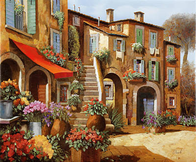 Automotive Paintings Royalty Free Images - La Tenda Rossa Royalty-Free Image by Guido Borelli