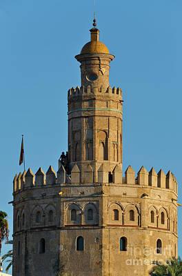 Photograph - La Torre De Oro Detail. Seville by Angelo DeVal