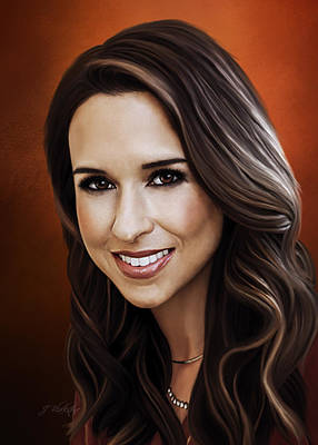Painting - Lacey Chabert - Portrait by Jordan Blackstone