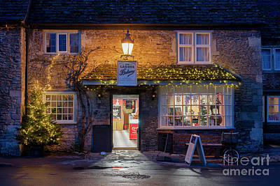 Photograph - Lacock Bakery At Christmas by Tim Gainey