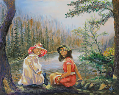 Painting - Ladies At Lake by David Bader