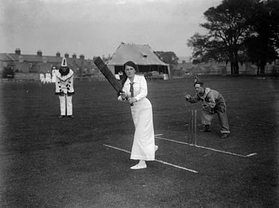 Photograph - Ladies V Soldiers by Central Press