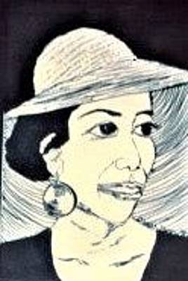 Drawing - Lady And Her Hat by Delorys Tyson