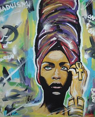 Painting - Lady Badu by Antonio Moore