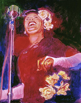 Jazz Painting Royalty Free Images - Lady Day - Billie Holliday Royalty-Free Image by David Lloyd Glover