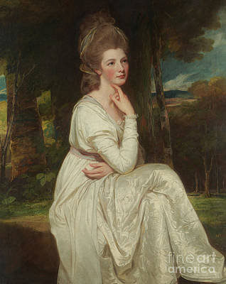 Painting - Lady Elizabeth Stanley, Countess Of Derby by George Romney