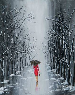 Painting - Lady In Red by Judy Horan