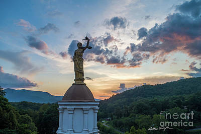 Photograph - Lady Justice 2 - Jackson County NC by Matthew Turlington