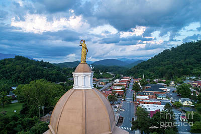 Photograph - Lady Justice 3- Jackson County NC by Matthew Turlington