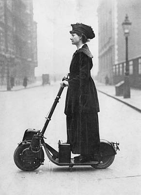 Photograph - Lady Normans Scooter by Fpg