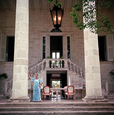 Photograph - Lady Of The Manor by Slim Aarons