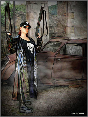 Photograph - Lady Punisher by Jon Volden