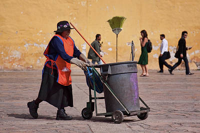 Photograph - Lady Street Sweeper by Tatiana Travelways