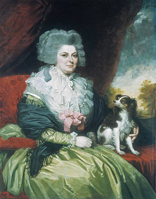 Painting - Lady With A Dog by Mather Brown