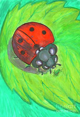 Painting - Ladybug by Dobrotsvet Art
