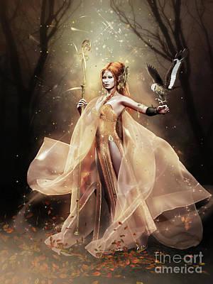 Digital Art - Ladyhawke by Shanina Conway