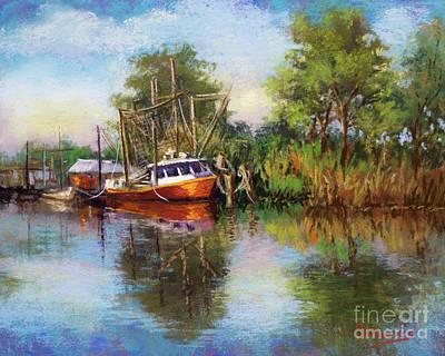 Painting - Lafourche Shrimper by Dianne Parks