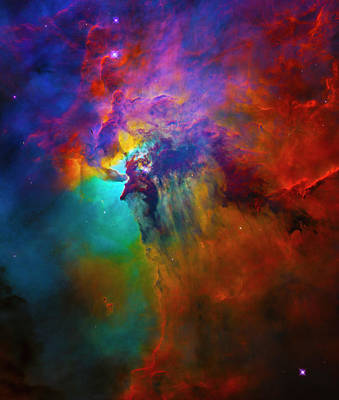 Photograph - Lagoon Nebula With Monster Star by Paul W Faust - Impressions of Light