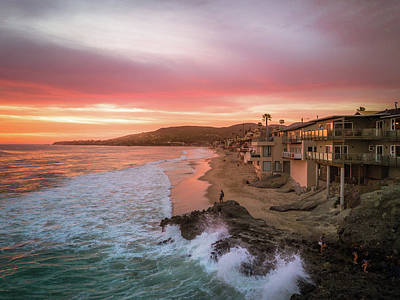 Photograph - Laguna Sunset Wave by Seascaping Photography