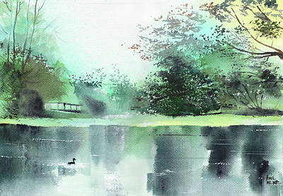 Painting - Lake 1 by Anil Nene