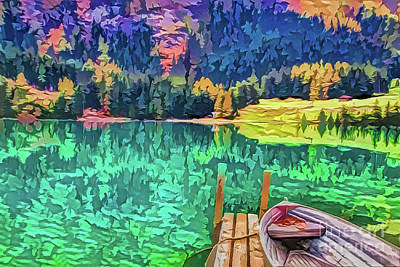 Painting - Lake A18-60 by Ray Shrewsberry