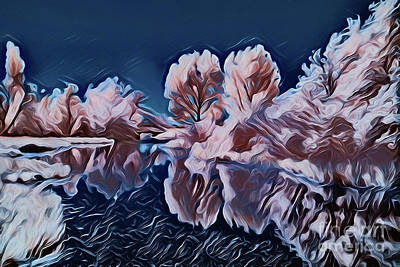 Painting - Winter Lake A1912 by Ray Shrewsberry