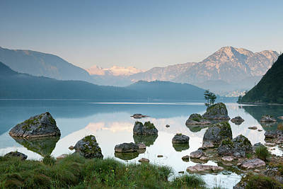 Beauty In Nature Photograph - Lake Altaussee With Glacier Dachstein by 4fr