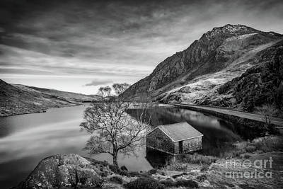 Photograph - Lake And Half Moon Snowdonia  by Adrian Evans